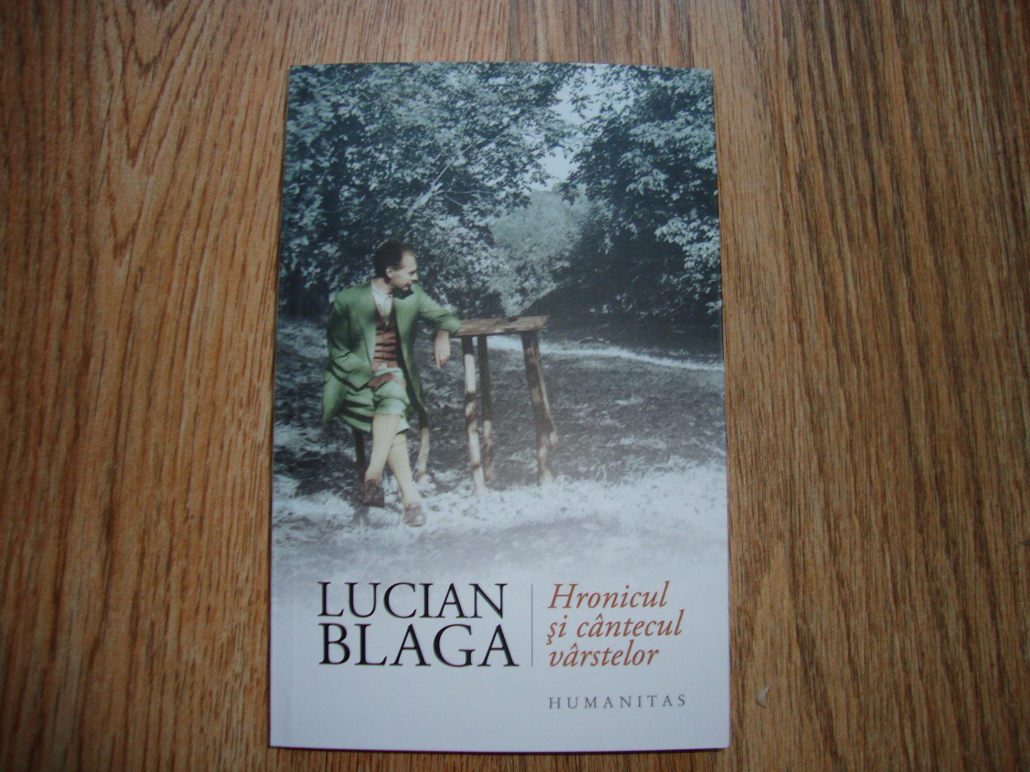 carte blindate_lucian blaga_hronicul si cantecul varstelor