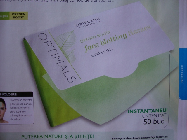 servetele absorbante Optimals_Oriflame